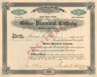 Medico-Pharmacal Company stock certificate 1903 (Rhode Island)