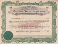Gearless Motor Corporation stock certificate 1919
