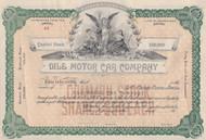 Dile Motor Car Company stock certificate 1913
