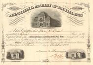 Pennsylvania Academy of the Fine Arts stock certificate (Philadelphia)