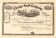 Chicago Gold Company stock certificate 1860's (Illinois)