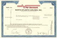 Air Vermont - North Atlantic Airlines stock certificate