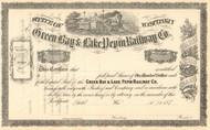 Green Bay and Lake Pepin Railway Company stock certificate 1870's (Wisconsin)