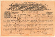 City of New York Public Building Stock Certificate 1856 (signed Wood and Flagg)