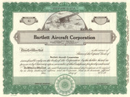 Bartlett Aircraft Corporation stock certificate circa 1941 (California)