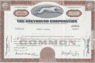 Greyhound Corporation stock certificate