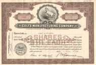 Colt's Manufacturing Company stock certificate 1950's (Connecticut)