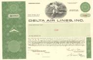 Delta Air Lines Inc. stock certificate specimen circa 1987