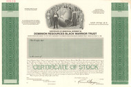 Dominion Resources Black Warrior Trust stock certificate specimen 1994