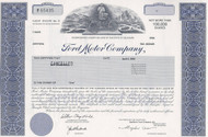 Ford Motor stock certificate