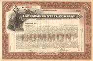 Lackawanna Steel Company stock certificate circa 1902 (New York)