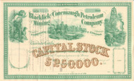 Blacklick and Conemaugh Petroleum and Mining Company stock certificate circa 1863 (Pennsylvania)
