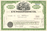 F.W. Woolworth Company stock certificate 1973