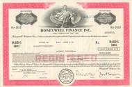 Honeywell Finance Inc. bond certificate 1970's