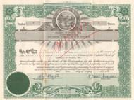 Baseball of Toledo, Inc. (Mud Hens) stock certificate 1952 (president indicted for fraud)