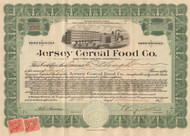 Jersey Cereal Food Company stock certificate 1919 (Pennsylvania)