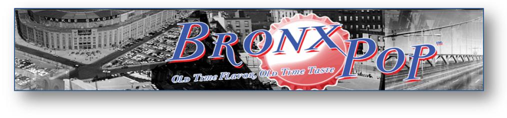 Bronx Pop Soda from SummitCitySoda.com