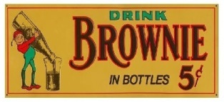 Drink Brownie Root Beer Soda Vintage Sign