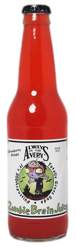 Avery's Totally Gross Zombie Brain Juice in 12 oz. glass bottles for Sale