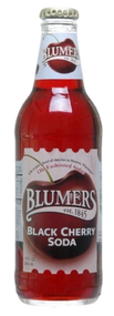 Blumers Black Cherry Soda in 12 oz. glass bottles for Sale
