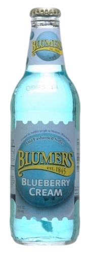 Blumers Blueberry Cream Soda in 12 oz. glass bottles for Sale