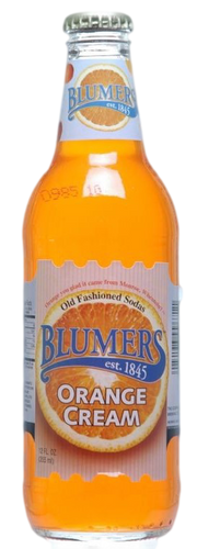 Blumers Orange Cream Soda in 12 oz. glass bottles for Sale