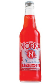 NORKA Cherry-Strawberry Soda in 12 oz glass bottles from SummitCitySoda.com
