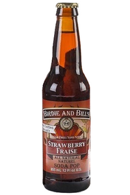 Birdie and Bill's Strawberry - All Natural Soda Pop in 12 oz glass bottles at SummitCitySoda.com