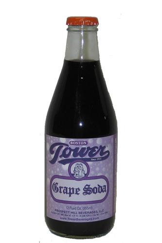 Tower Grape Soda in 12 oz. glass bottles for sale at SummitCitySoda.com