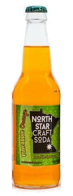 North Star Pineapple Orange Craft Soda in 12 oz glass bottles for Sale at SummitCitySoda.com