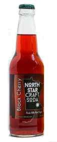 North Star Craft Soda Black Cherry in 12 oz glass bottles for Sale at SummitCitySoda.com