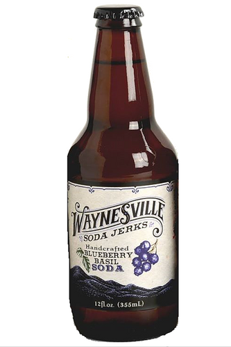 Waynesville Soda Jerks Handcrafted Blueberry Basil Soda in 12 oz glass bottles at SummitCitySoda.com