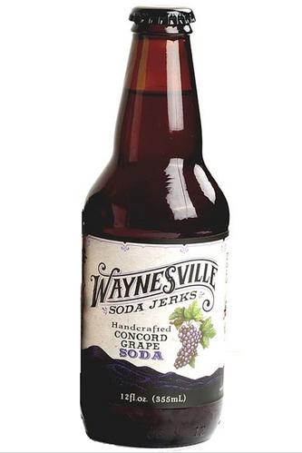 Waynesville Soda Jerks Handcrafted Concord Grape Soda in 12 oz glass bottles at SummitCitySoda.com
