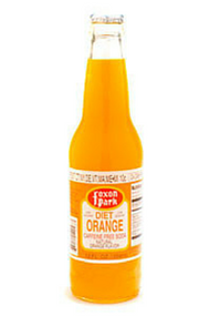 Foxon Park Diet Orange Soda in 12 oz. glass bottles for Sale at SummitCitySoda.com