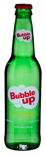 Bubble Up Soda in 12 oz. glass bottles for Sale