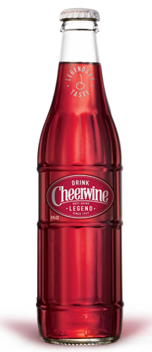 Cheerwine Soda in 12 oz. glass bottles for Sale