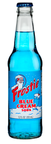 Frostie Blue Cream Soda in 12 oz. glass bottles for Sale