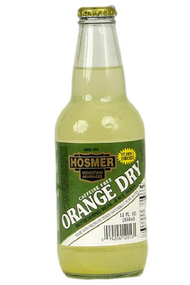 Hosmer Mountain Orange Dry Soda in 12 oz. glass bottles for Sale at SummitCitySoda.com