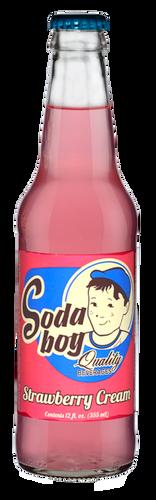 Soda Boy Strawberry Cream Soda in 12 oz. glass bottles for Sale