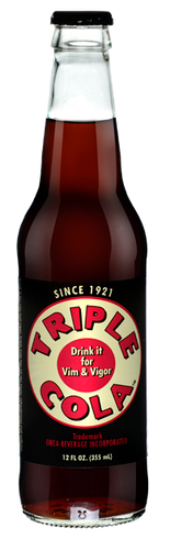 Triple Cola in 12 oz. glass bottles for Sale