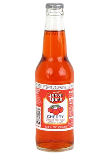 Foxon Park Cherry Soda in 12 oz. glass bottles for Sale at SummitCitySoda.com