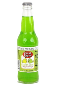 Foxon Park Lemon-Lime Soda in 12 oz. glass bottles for Sale at SummitCitySoda.com