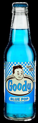 Goody Blue Pop in 12 oz. glass bottles for Sale