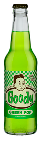 Goody Green Pop in 12 oz. glass bottles for Sale