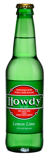 Howdy Lemon Lime Soda in 12 oz. glass bottles for Sale