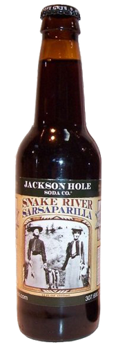 Jackson Hole Snake River Sarsaparilla in 12 oz. glass bottles for Sale