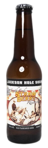 Jackson Hole Strawberry Rhubarb Soda in 12 oz. glass bottles for Sale