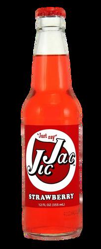 Jic Jac Strawberry Soda in 12 oz. glass bottles for Sale
