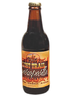 Lost Trail Sarsaparilla in 12 oz. glass bottles for Sale at SummitCitySoda.com