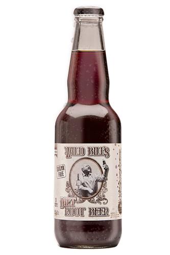 Northwoods Wild Bill's Diet Root Beer in 11.5 oz. glass bottles for Sale at SummitCitySoda.com